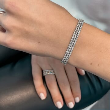 Three-Strand Diamond Tennis Bracelet