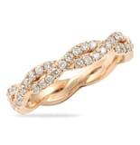 .75 CT ROUND DIAMOND ROSE GOLD BRAIDED PAVE BAND