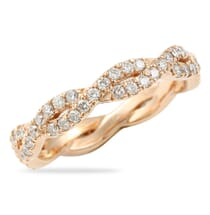 BRAIDED PAVE ETERNITY BAND