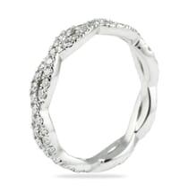 BRAIDED PAVE DIAMOND ETERNITY BAND RING