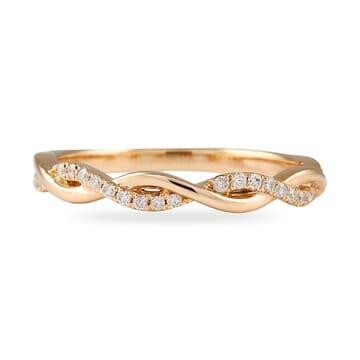 .20 CT ROSE GOLD HALF & HALF BRAIDED WEDDING BAND