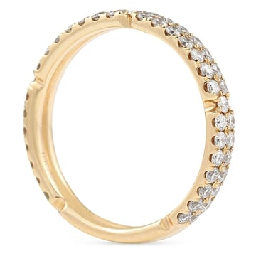 Two-Row Rose Gold Pave Eternity Band