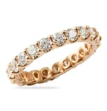 2.05 CT ROUND DIAMOND ROSE GOLD U-SHAPE ETERNITY BAND