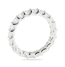 u shape eternity band design in white gold