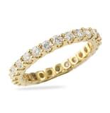 1.35 CT ROUND DIAMOND YELLOW GOLD U-SHAPE ETERNITY BAND
