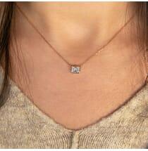 Emerald Cut Diamond Pendant