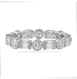 1.10 CT ROUND AND BAGUETTE DIAMOND VINTAGE BAND
