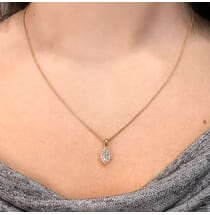 Petite Marquise Diamond Halo Pendant product shot
