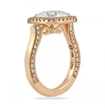Moissanite Cushion Cut Rose Gold Engagement Ring