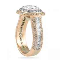 Moissanite Cushion Cut Two-Tone Engagement Ring