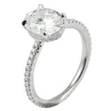 Oval Moissanite Invisible Gallery™ Engagement Ring