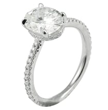 OVAL MOISSANITE INVISIBLE GALLERY RING