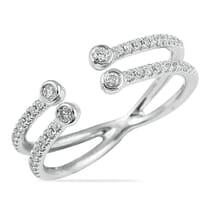 WHITE GOLD SPLIT BAND WEDDING RING DESIGN
