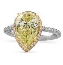 2.4 ct Pear Shape Yellow Diamond Hidden Halo™ Engagement Ring