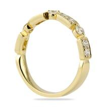 YELLOW GOLD BEZEL SET WEDDING BAND RING