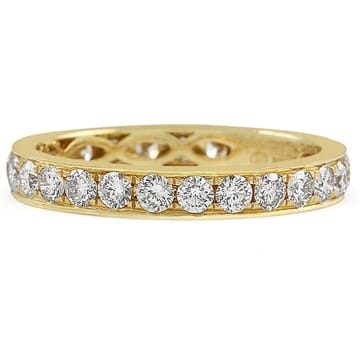1.00 Carat TW Channel Set Diamond Eternity Band