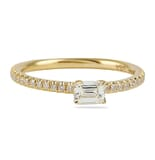 .32 CT EMERALD CUT YELLOW GOLD SUPER STACKABLE RING