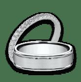 wedding rings band set