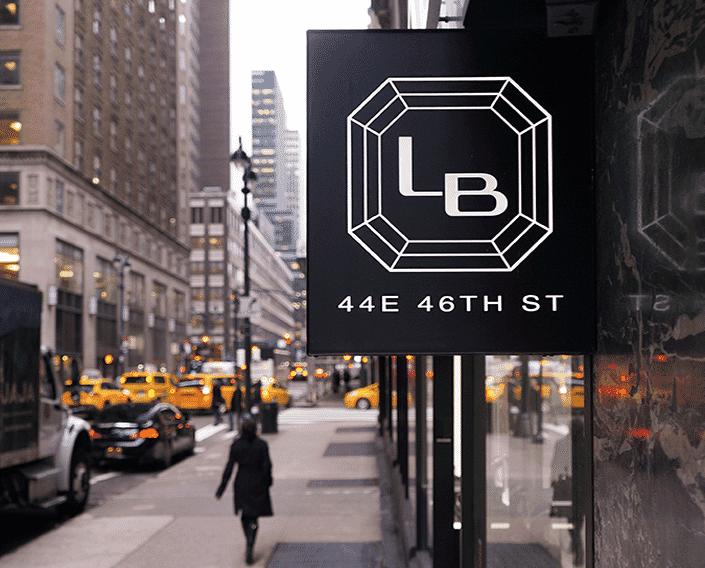 lauren b jewelry sign nyc street view
