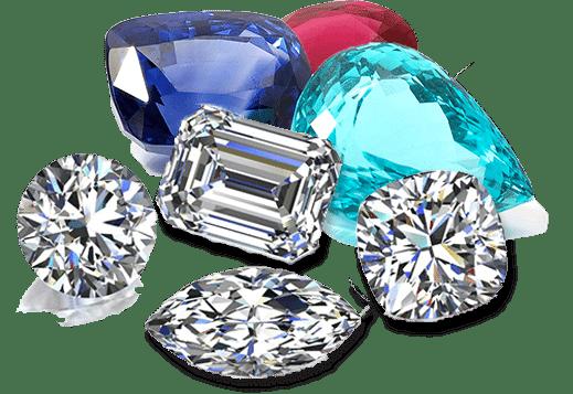 colored gemstones & diamond shapes