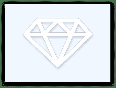 illustrated diamond side profile